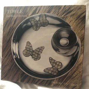 Towle Silver Papillion Collection Serving Bowl Set